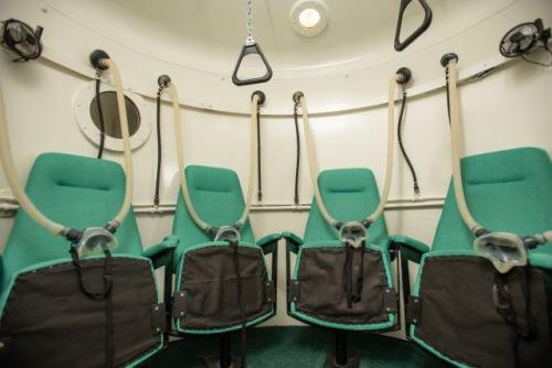 Oxygen Chamber - Seating inside